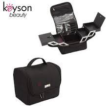 soft sided nylon makeup vanity bag case