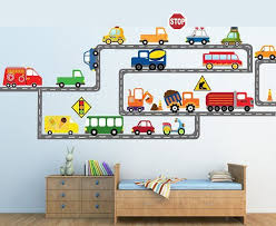 Transportation Wall Decal Car Wall Decals Truck Wall Decals Etsy In 2020 Car Themed Bedrooms Cars Room Toddler Boys Room