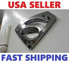 Auto Parts And Vehicles New Superman Chrome Domed Emblem Decal Badge For Car Truck Bike Hood Trunk Back Car Truck Emblems
