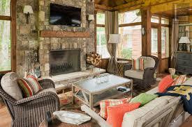 porch screened fireplace custom mantel
