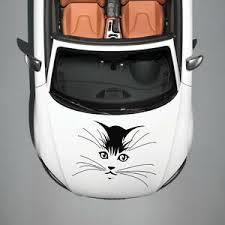 Beautiful Cute Cat Whiskers Art Design Hood Car Vinyl Sticker Decals Sv1250 Ebay