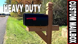 How To Build A Custom Heavy Duty Mailbox Adding Fence Armor Post Protector Youtube