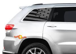 Flag Decal Set Fits Jeep Grand Cherokee Laredo Side Window Usa American
