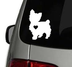 Yorkie Heart Decal Yorkie Decal Dog Family Decal Car Decal Yorkie Yorkie Mom Window Decal Decal Decals Dog Dec Heart Decals Yorkie Dog Decals