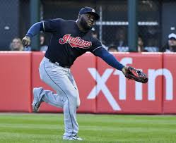 Cleveland Indians OF Abraham Almonte exits game vs. Blue Jays game ...