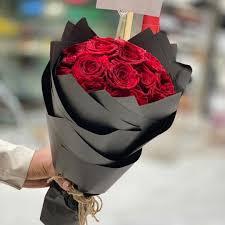 بوكيه ورد احمر عشان تقدم هدية لاحبائك احلى بوكيه ورد والله صباحيات