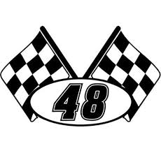 Amazon Com Checkered Flag Racing Number 48 Graphic Car Truck Window Decal Sticker Die Cut Vinyl Decal For Windows Cars Trucks Tool Boxes Laptops Macbook Virtually Any Hard Smooth Surface Arts