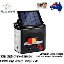 Solar Electric Solar Powered Electric Fence Energizer