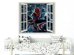 3d Spiderman Wall Decal Movie Window Superhero Vinyl Sticker Boys Decor Ps223 Ebay