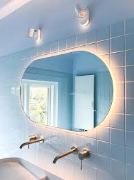 sunrise bathroom mirror oval studio