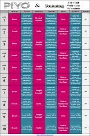 piyo hybrid workout schedules and
