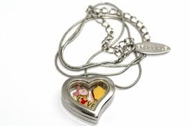 disney heart locket silver necklace