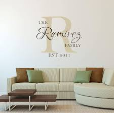 Amazon Com Custom Family Name Wall Decal Personalized Name Wall Sticker Custom Name Wall Sign Monogram Stencil Handmade