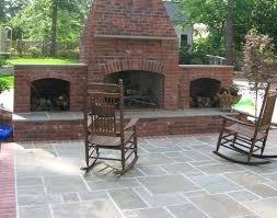 fresh new outdoor brick fireplace plans