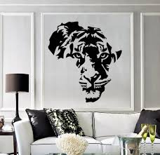 Tiger Animal Africa Map Wall Stickers Removable Vinyl Wall Decal Decor Kids Room Living Room Wall Stickers Decor Mural Sa171 Leather Bag