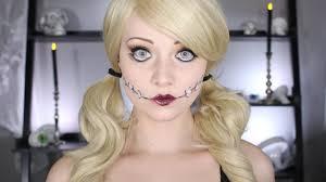 halloween doll makeup tutorial no