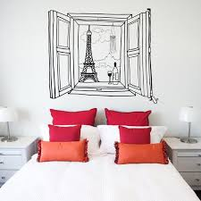 Cityscape Window Decals Paris Window Wall Decal