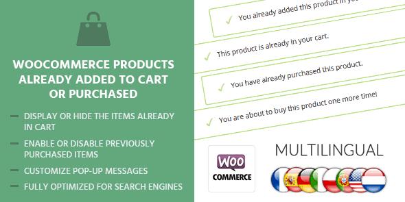 MyThemeShop WooCommerce Products Already Added To Cart