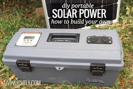 diy portable solar power livin lightly