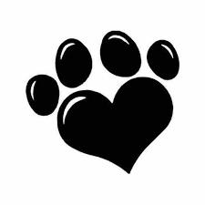 Animal Dog Paw Heart Vinyl Decal Sticker