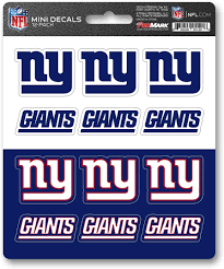Amazon Com Fanmats Promark Nfl New York Giants Decaldecal Set Mini 12 Pack Team Colors One Size Sports Outdoors