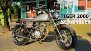 sunday ride honda tiger 2000 scrambler