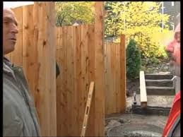 Installing A Fence On A Sloped Site Youtube