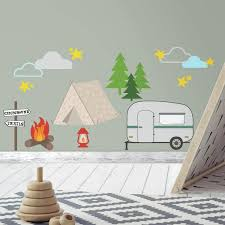 Amazon Com Roommates Camping Peel And Stick Wall Decals Home Improvement