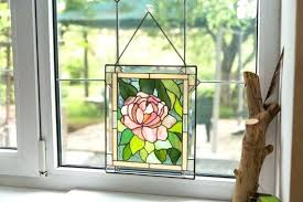 stained glass wall hanging window panel