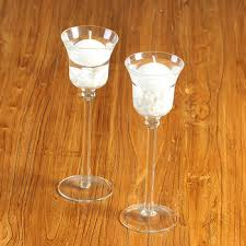 long stem votive glass candle holders
