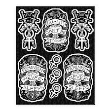 Gothic Sticker And Decal Sheets Lookhuman
