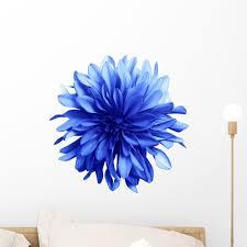 Shaggy Blue Dahlia Flower Wall Decal Wallmonkeys Com
