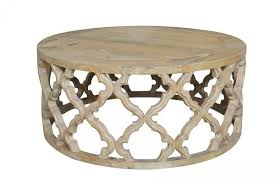 trellis round coffee table elm coffee