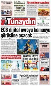 Gazete Sayfaları: 13 EYLÜL 2020 - Tünaydın Gazetesi