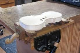 homemade violin holding jig