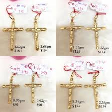 crucifix pendants genuine 18k 750 gold