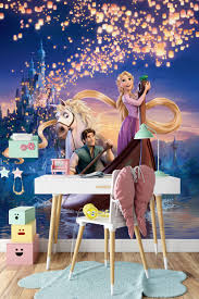 Excited To Share The Latest Addition To My Etsy Shop Tangled Wall Mural Rapunzel Wallpap Disney Wall Murals Disney Princess Wall Decals Girls Room Wallpaper