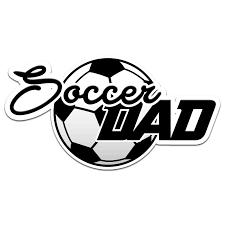 Soccer Dad Color Vinyl Sports Car Laptop Sticker 6