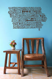 Iowa Word Cloud Des Moines Usa Wall Art Iowa Decal State Etsy