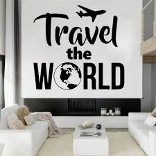 Travel Agency Wall Stickers Home Decor Living Room Office Summer Holidays Wall Decals Room Decoration Travel The World B600 Wall Stickers Aliexpress