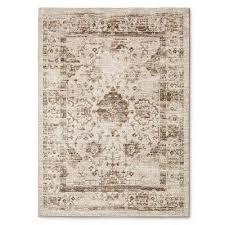 target vintage distressed rug in cream
