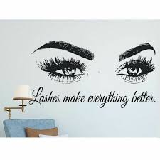 Eyelashes Sticker Wall Art Lashes Brows Microblading Beauty Salon Decor Quotes For Sale Online