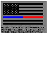 Thin Half Blue Line Half Red Line Black American Flag Vinyl Decal Sticker Ebay