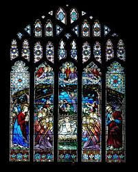 nativity window stained glass church