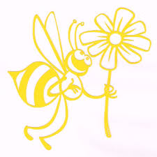 Bee Daisy Flower Car Decal Yellow Walmart Com Walmart Com