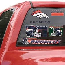 Amazon Com Nfl Denver Broncos 11 X 17 Window Clings Sheet Kitchen Dining