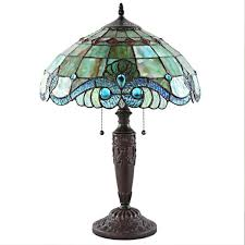 table lamp with stained glass