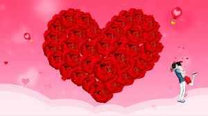 red rose i love you background red