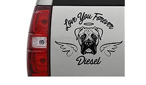 In Memory Of Boxer Dog Car Decal
