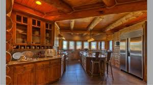 log cabin kitchen cabinets with natural